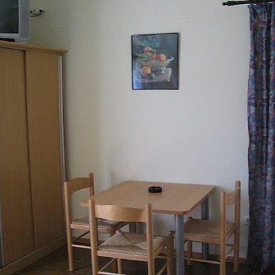 Der Essbereich des Apartments