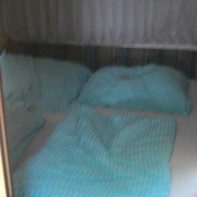 Wohnwagen mieten in Kroatien Bett
