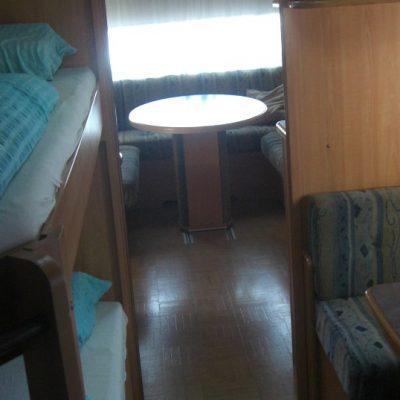 Wohnwagen mieten in Kroatien Innenraum
