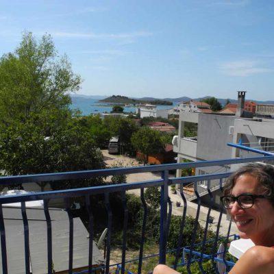 Balkon Meerblick Apartment Kroatien