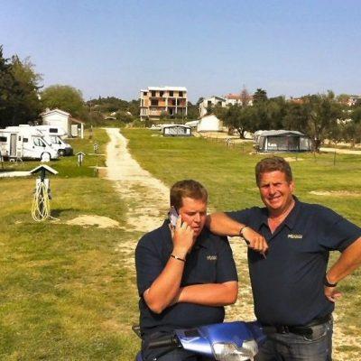 """Kai und Holger Frenzel, die """"Chefs"""" des Autocamps Nordsee"""
