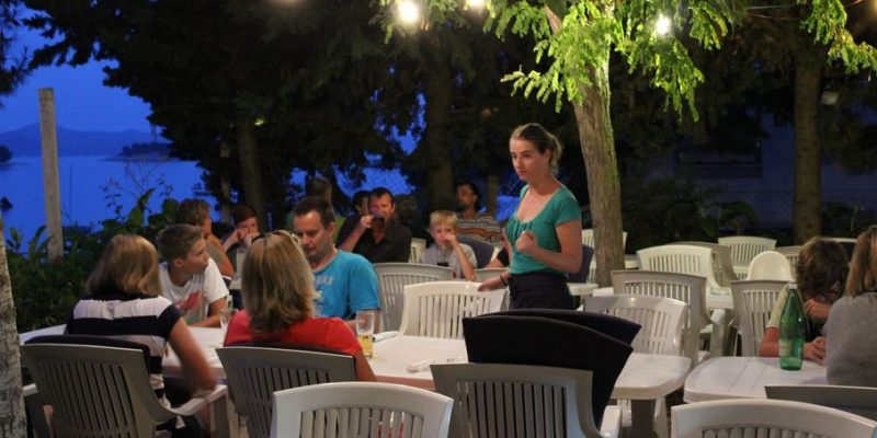 Restaurant Camping am Abend