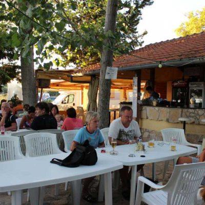 Aussenterrasse Restaurant Autocamp Nordsee Kroatien