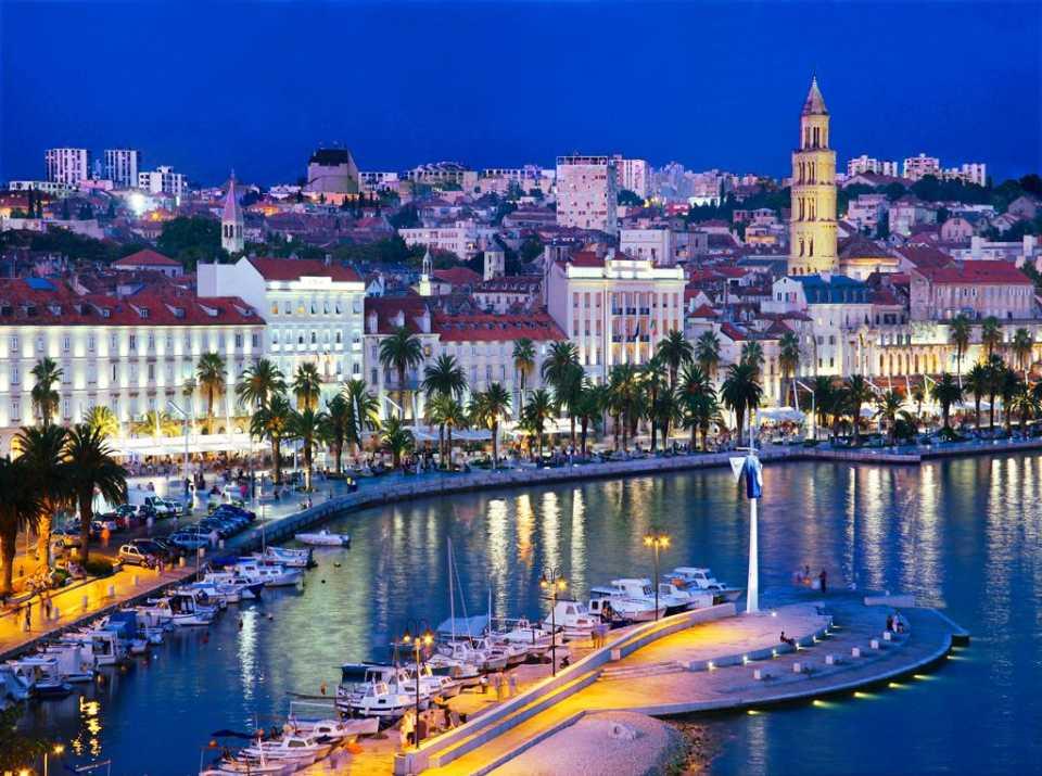 Split Hafen Promenade Kroatien