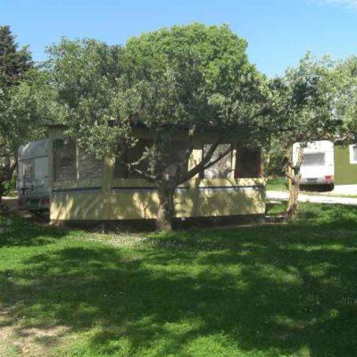 Wohnwagen in Kroatien Campingplatz