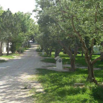 Wohnwagen in Kroatien Blick