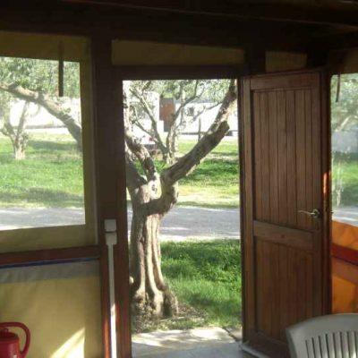 Wohnwagen in Kroatien Terrasse