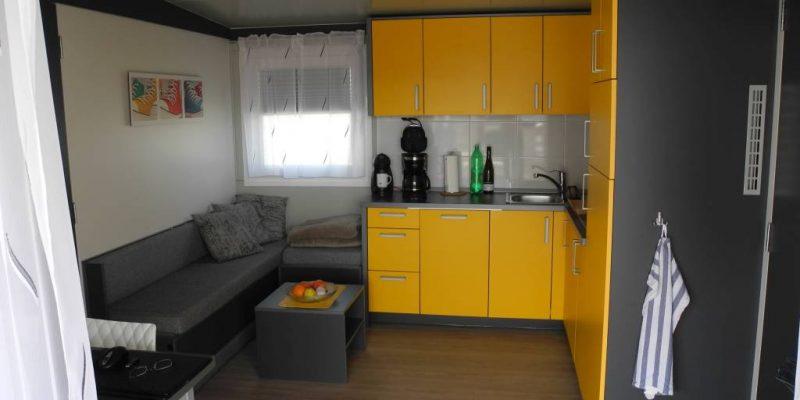 Mobilheim mieten in Kroatien Wohnbereich